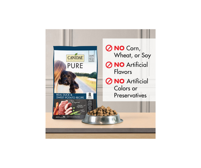 Canidae Grain Free PURE - All Breeds, Adult Dog. Real Duck Limited Ingredient Recipe - Southern Agriculture