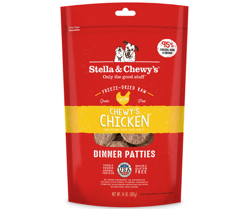 Stella & Chewy's, Freeze-Dried Raw Dinner Patties - All Dog Breeds, All Life Stages. Chewy's Chicken Recipe - Southern Agriculture
