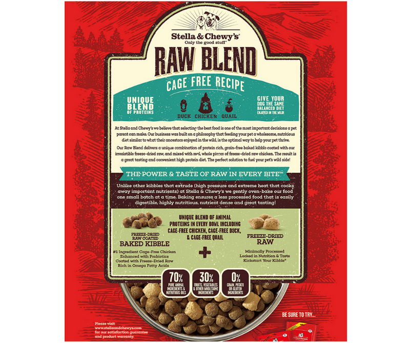 Stella & Chewy's Raw Blend - All Breeds, Adult Dog. Cage-Free Chicken Kibble Recipe - Southern Agriculture