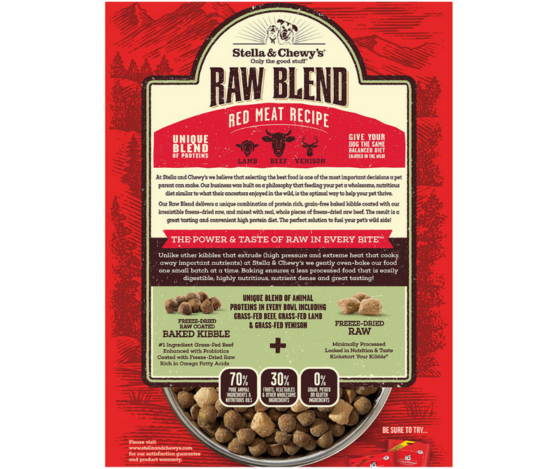 Stella & Chewy's Raw Blend - All Breeds, Adult Dog. Red Meat - Beef, Lamb, and Venison Recipe - Southern Agriculture