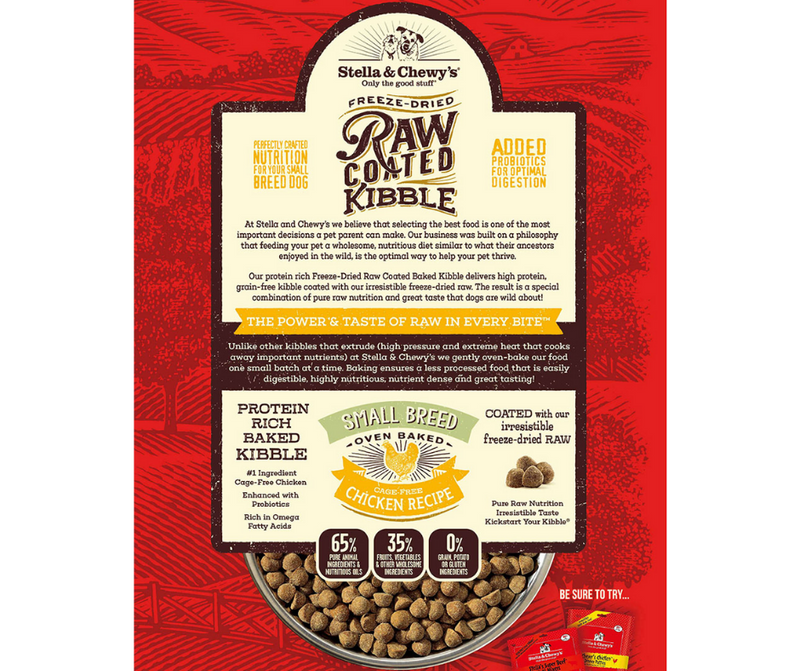 Stella & Chewy's Raw Coated Kibble - Small Breeds, Adult Dog. Cage-Free Chicken Recipe - Southern Agriculture