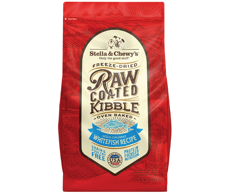 Stella & Chewy's Raw Coated Kibble - All Breeds, Adult Dog. Wild-Caught Whitefish Raw Recipe - Southern Agriculture