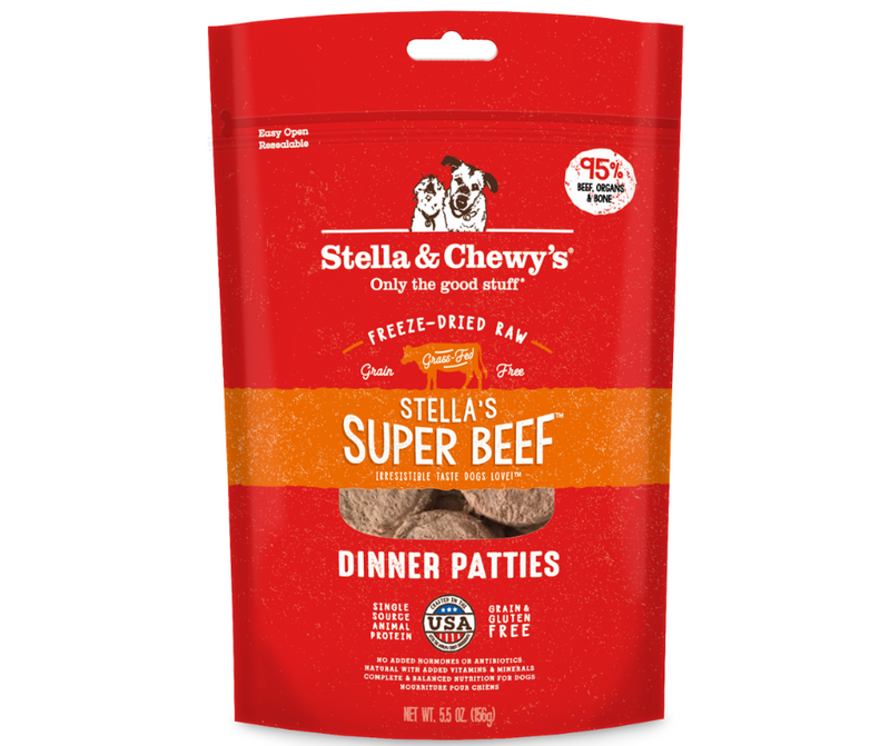 Stella & Chewy's, Freeze-Dried Raw Dinner Patties - All Dog Breeds, All Life Stages. Stella's Super Beef Recipe - Southern Agriculture