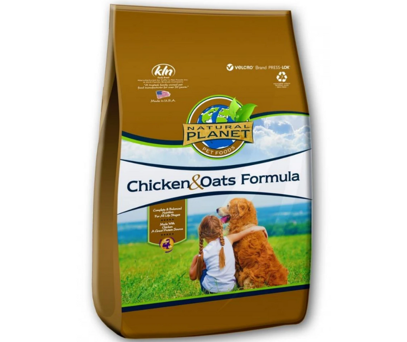 Natural Planet - All Breeds, All Life Stages.  Chicken and Oats Formula Dry Dog Food - Southern Agriculture