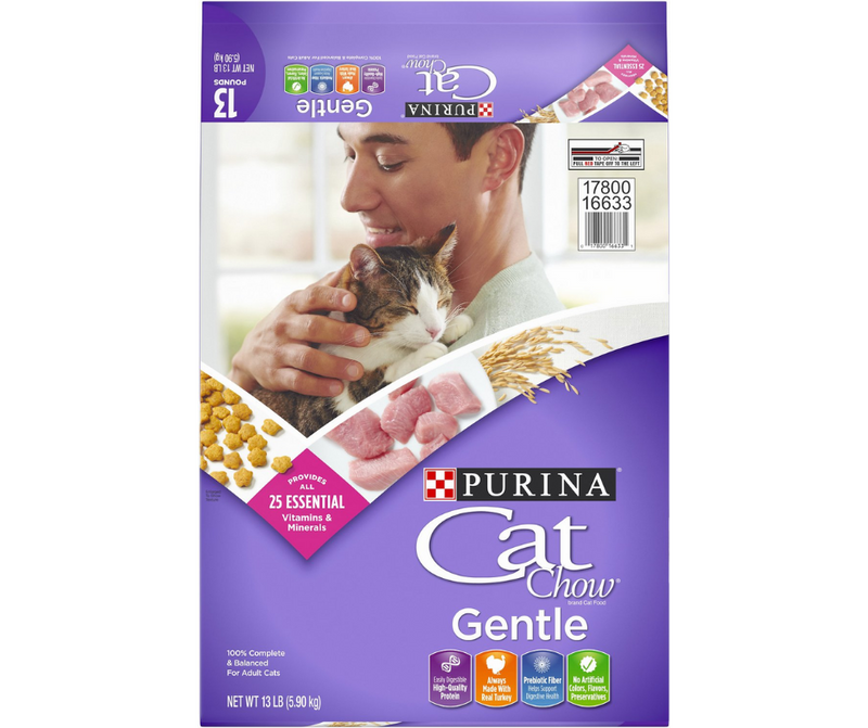 Purina Cat Chow Gentle  - All Breeds, Adult Cat. Sensitive Stomachs, Turkey Recipe - Southern Agriculture