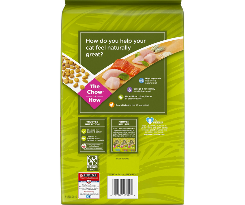 Purina Cat Chow Naturals - All Breeds, Indoor Cat. Chicken and Turkey with added vitamins, minerals and nutrients Recipe - Southern Agriculture