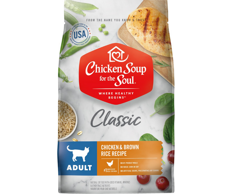 Chicken Soup for the Soul - All Breeds, Adult Cat. Chicken & Brown Rice Recipe - Southern Agriculture