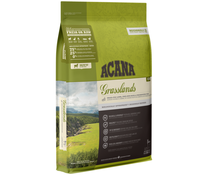Champion Petfoods, Acana - All Cat Breeds, All Life Stages.  Grasslands Recipe - Southern Agriculture