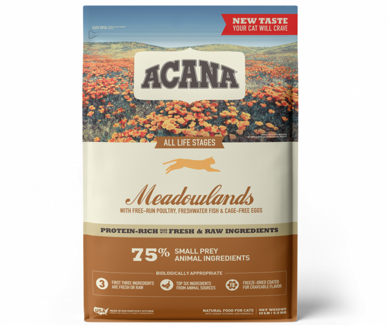 Champion Petfoods, Acana - All Cat Breeds, All Life Stages. Meadowlands Recipe - Southern Agriculture