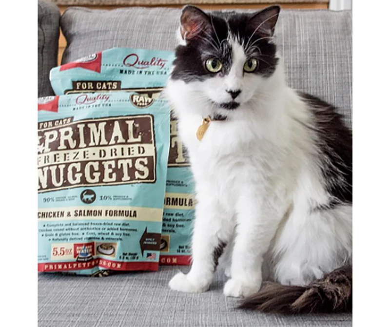 Primal Pet Foods Inc. - All Cat Breeds, All Life Stages. Raw, Freeze-Dried, Chicken and Salmon Formula - Southern Agriculture