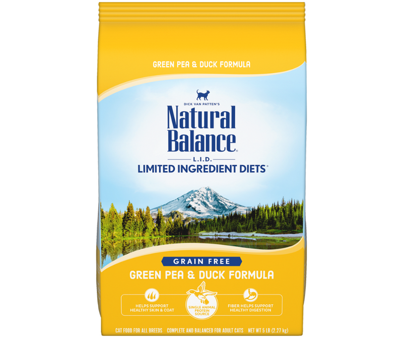 Natural Balance, L.I.D. Limited Ingredient Diets - All Breeds, Adult Cat. Green Pea & Duck Formula - Southern Agriculture