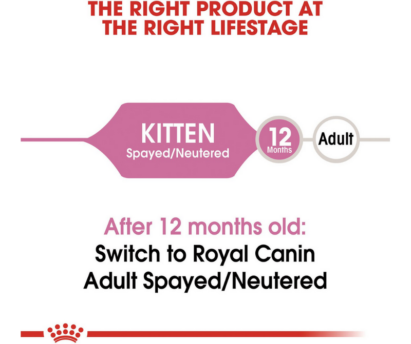 Royal Canin Kitten- Spayed/Neutered Breeds. Dry Kitten Food - Southern Agriculture
