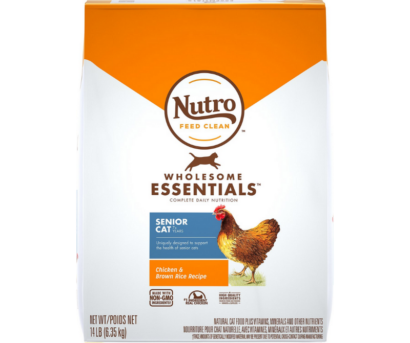 Nutro Wholesome Essentials - All Breeds, Senior Cat. Chicken and Whole Brown Rice Recipe - Southern Agriculture