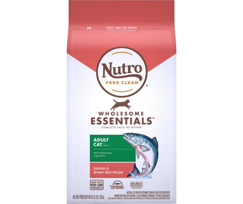 Nutro Wholesome Essentials - All Breeds, Adult Cat. Salmon and Whole Brown Rice Recipe - Southern Agriculture