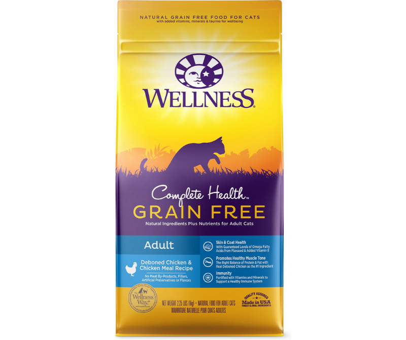 Wellness Complete Health -All Breeds, Adult Cat. Grain Free Deboned Chicken & Chicken Meal Recipe - Southern Agriculture
