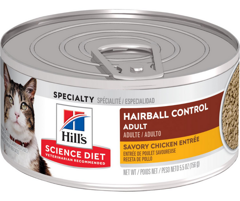 Hill's Science Diet - All Breeds, Adult Cat. Hairball Control, Savory Chicken Entree. - Southern Agriculture