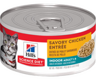 Hill's Science Diet - Indoor Breeds, Adult Cat. Savory Chicken Entrée - Southern Agriculture