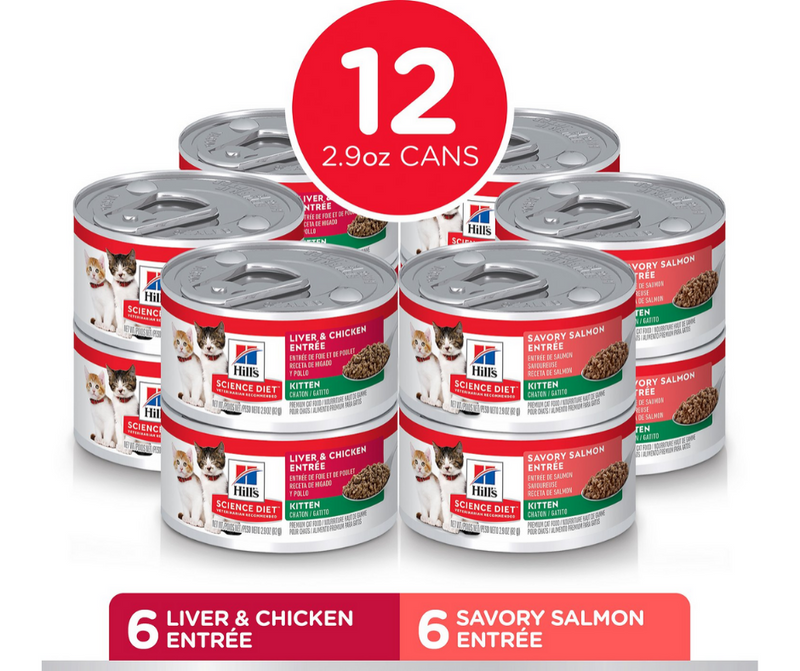 Hill's Science Diet - All Breeds, Kitten. Liver & Chicken, Savory Salmon Variety Pack - Southern Agriculture
