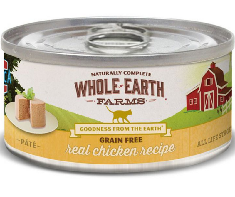Whole Earth Farms - All Cat Breeds, All Life Stages. Grain Free Real Chicken Recipe - Southern Agriculture