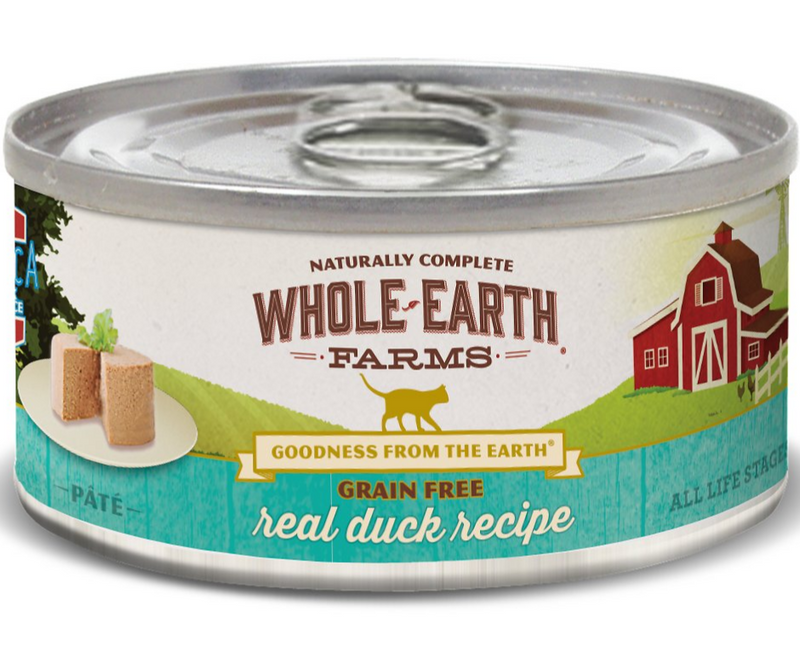 Whole Earth Farms - All Cat Breeds, All Life Stages. Grain Free Duck Recipe - Southern Agriculture