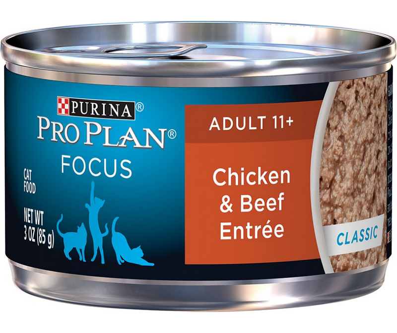 Purina Pro Plan FOCUS - All Breeds, Senior Cat 11+ Years Old. Chicken & Beef Entrée Classic - Southern Agriculture