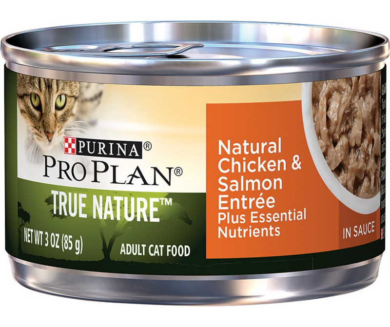 Purina Pro Plan TRUE NATURE- All Breeds, Adult Cat. Natural Chicken & Salmon Entrée In Sauce - Southern Agriculture