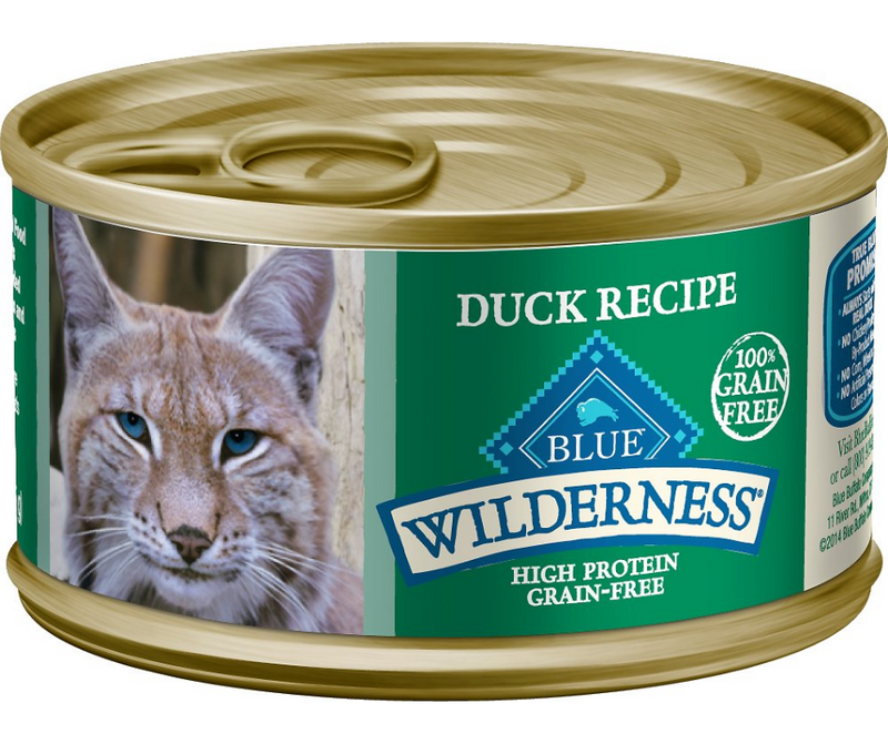 Blue Buffalo Wilderness - All Breeds, Adult Cat. Grain Free Duck Recipe - Southern Agriculture