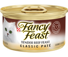Purina Fancy Feast - All Breeds, Adult Cat. Classic Paté Tender Beef Recipe. - Southern Agriculture