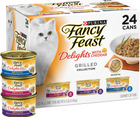 Purina Fancy Feast, Delights with Cheddar Cheese - All Breeds, Adult Cat. Grilled Meat in Gravy, Variety Pack. - Southern Agriculture