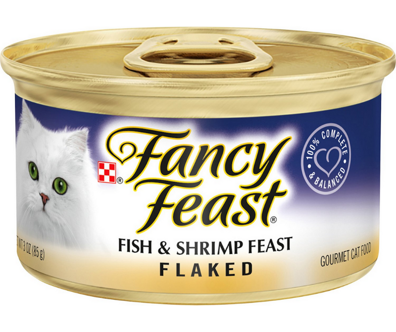 Purina Fancy Feast - All Breeds, Adult Cat. Flaked Fish & Shrimp Recipe. - Southern Agriculture