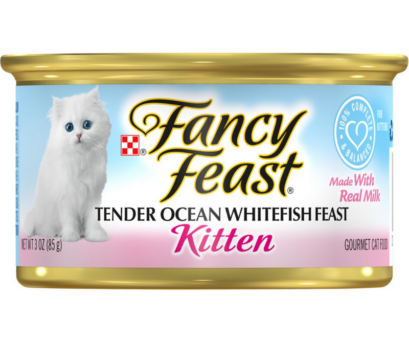 Purina Fancy Feast - All Breeds, Kitten. Classic Paté Tender Ocean Whitefish Feast Recipe. - Southern Agriculture