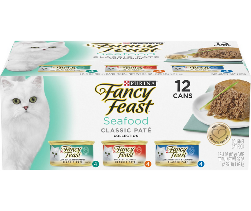 Purina Fancy Feast - All Breeds, Adult Cat. Classic Paté Seafood Feast, Variety Pack. - Southern Agriculture