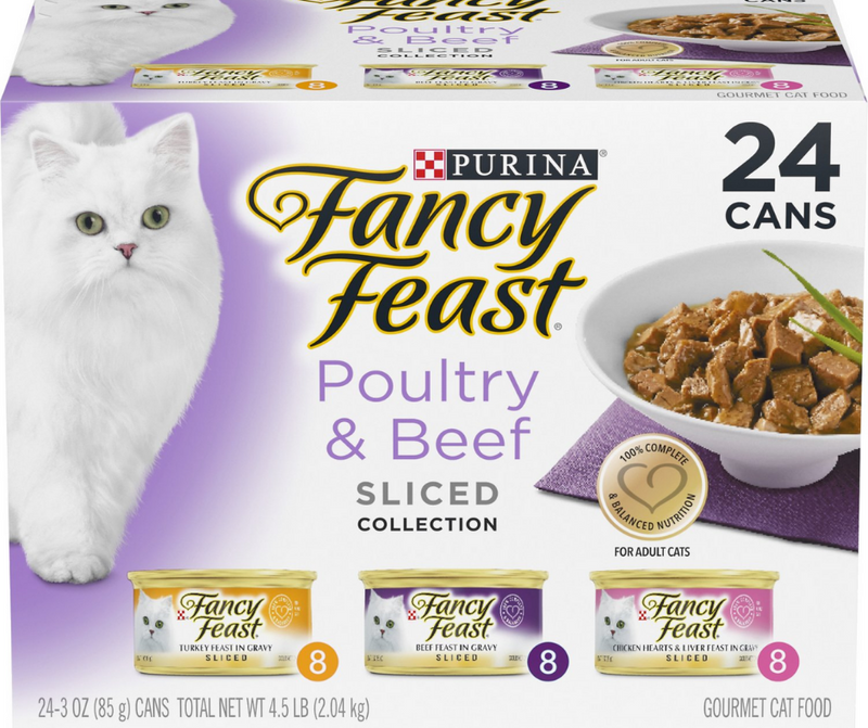 Purina Fancy Feast - All Breeds, Adult Cat. Sliced Poultry and Beef Feast, Variety Pack. - Southern Agriculture