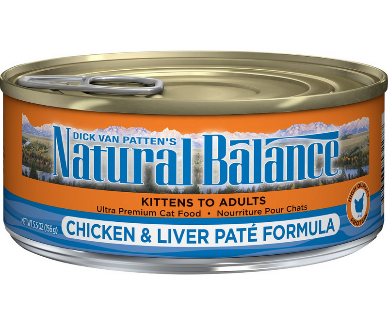 Natural Balance, Original Ultra - All Cat Breeds, All Life Stages. Ultra Premium Chicken & Liver Paté Recipe. - Southern Agriculture