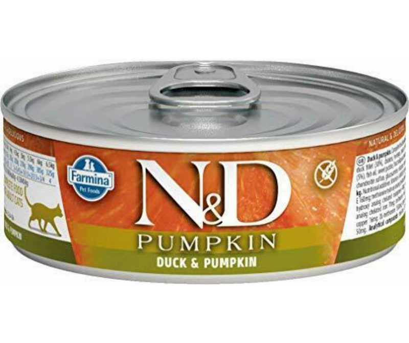 Farmina Pet Foods, N&D Pumpkin - All Breeds, Adult Cat. Duck and Pumpkin Recipe - Southern Agriculture
