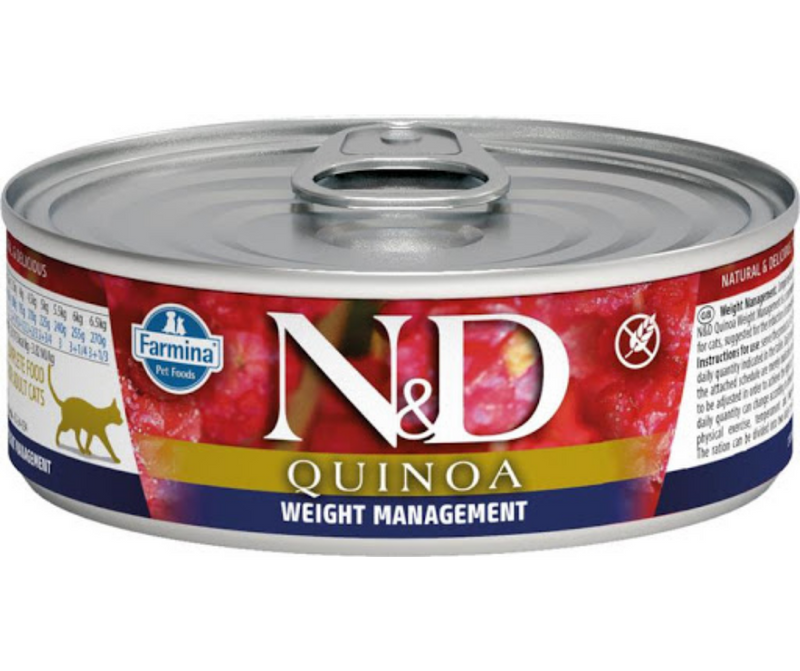 Farmina Pet Foods. N&D Quinoa - All Breeds, Adult Cat. Weight Management, Lamb Recipe. - Southern Agriculture