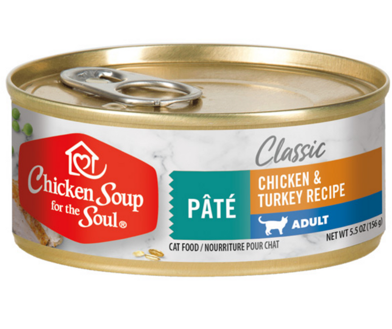 Chicken Soup for the Soul, Classic - All Breeds, Adult Cat. Chicken & Turkey Pâté Recipe - Southern Agriculture