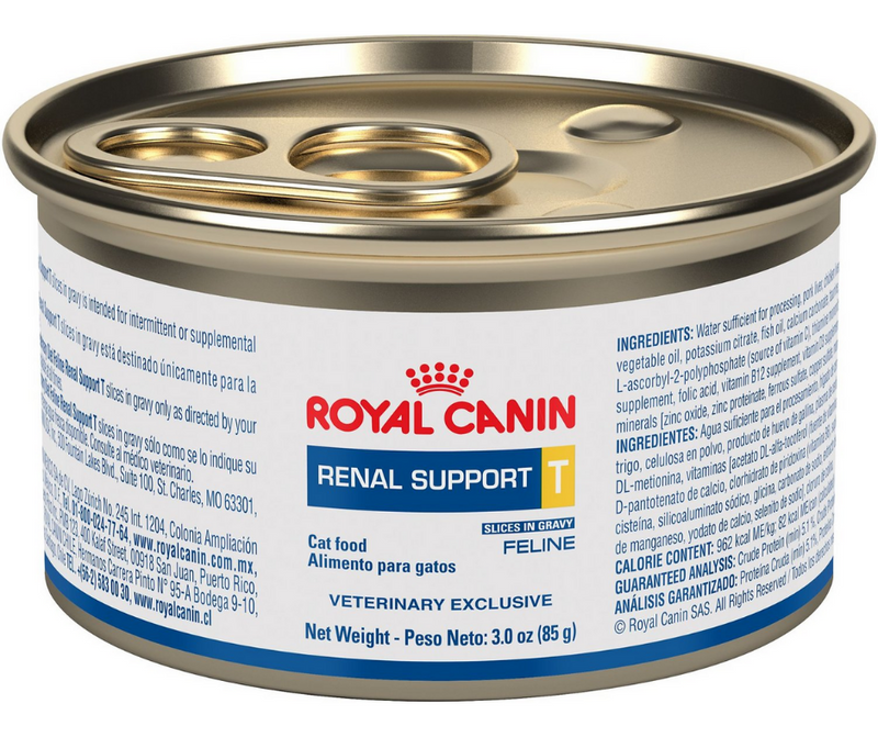 "Royal Canin, Veterinary Diet - Renal Support ""T"" Tasty. Pork, Chicken, and Salmon Slices in Gravy Recipe - Southern Agriculture"