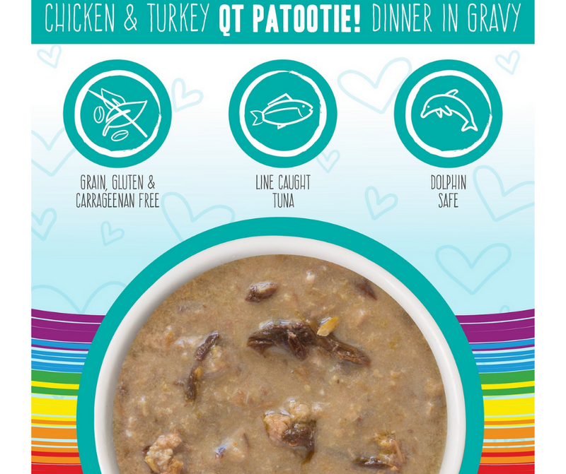 Weruva BFF, OMG QT Patootie! - All Breeds, Adult Cat. Grain-Free Chicken & Turkey Dinner in Gravy. - Southern Agriculture