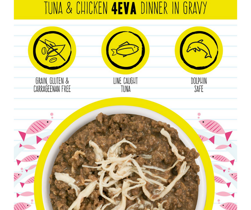 Weruva BFF, 4-Eva - All Cat Breeds, All Life Stages. Tuna & Chicken Dinner in Gravy. - Southern Agriculture