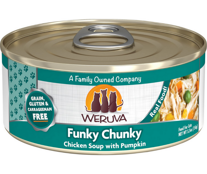 Weruva - All Breeds, Adult Cat. Funky Chunky, Grain Free Chicken Soup with Pumpkin Recipe. - Southern Agriculture