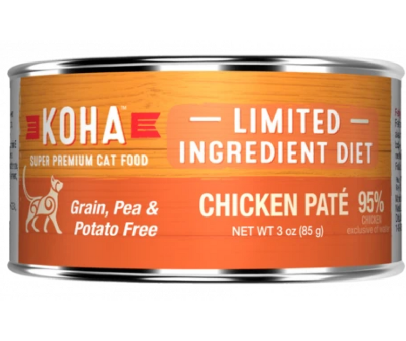 KOHA, Limited Ingredient Diet - All Breeds, Adult Cat. Chicken Pâté Recipe - Southern Agriculture