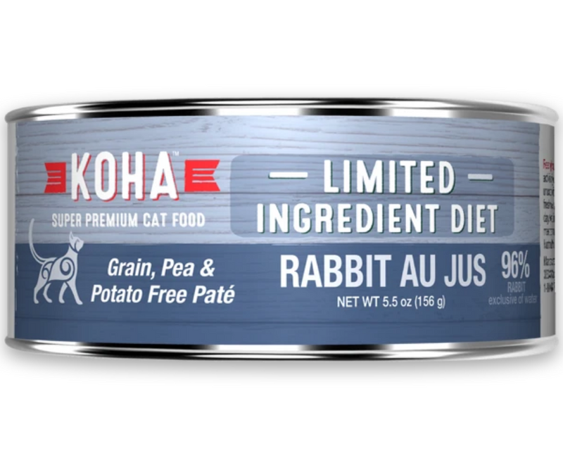 KOHA, Limited Ingredient Diet - All Breeds, Adult Cat. Rabbit Au Jus Recipe. - Southern Agriculture