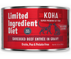 KOHA, Limited Ingredient Diet Shredded - All Breeds, Adult Cat. Beef Entrée in Gravy Recipe. - Southern Agriculture