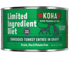 KOHA, Limited Ingredient Diet Shredded - All Breeds, Adult Cat. Turkey Entrée in Gravy Recipe. - Southern Agriculture