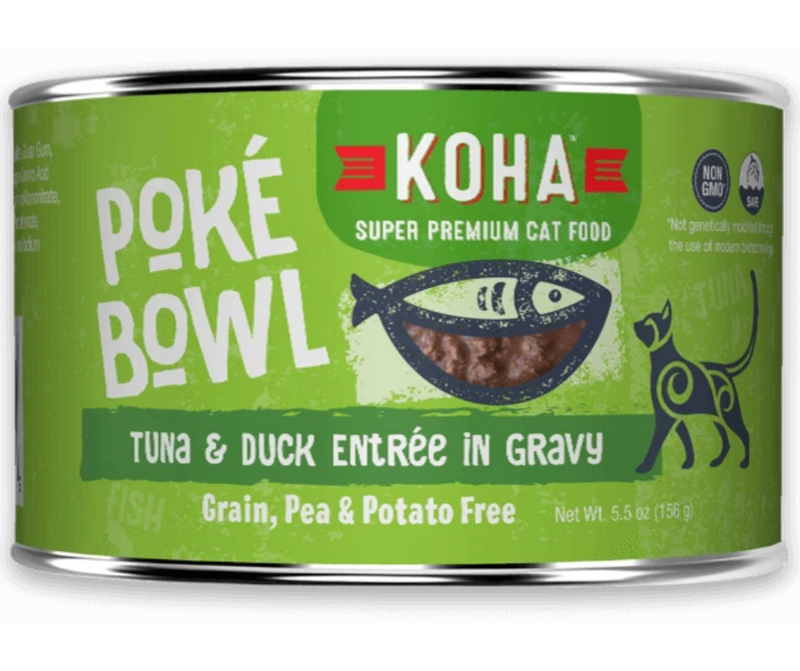 KOHA, Poké Bowl - All Breeds, Adult Cat. Tuna & Duck Entrée in Gravy - Southern Agriculture