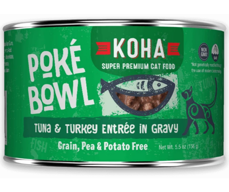 KOHA, Poké Bowl - All Breeds, Adult Cat. Tuna & Turkey Entrée in Gravy Recipe. - Southern Agriculture