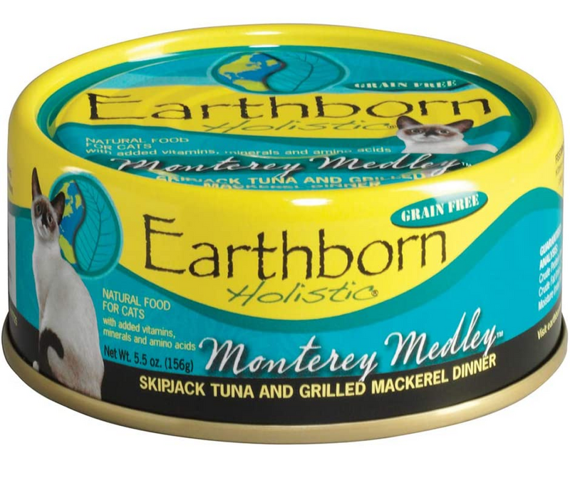 Earthborn Holistics - All Cat Breeds, All Life Stages. Monterey Medley, Skipjack Tuna and Grilled Mackerel Dinner in Gravy Recipe. - Southern Agriculture