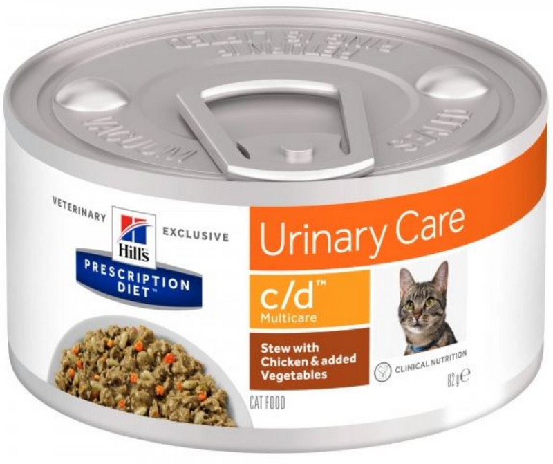 Hill's Prescription Diet - c/d. Urinary Care & Multicare Feline - Stew with Chicken & added Vegetables. - Southern Agriculture