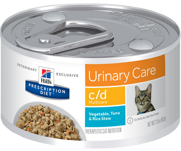 Hill's Prescription Diet - c/d. Urinary Care & Multicare Feline - Vegetable, Tuna & Rice Stew. - Southern Agriculture